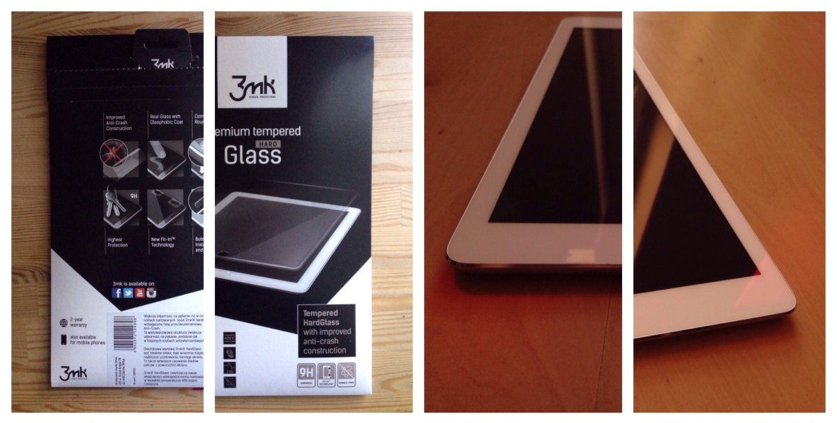 iTest: Szkło ochronne 3mk Hard Glass dla iPad Air i iPad Air 2 (Protective glass for iPad Air and iPad Air 2)