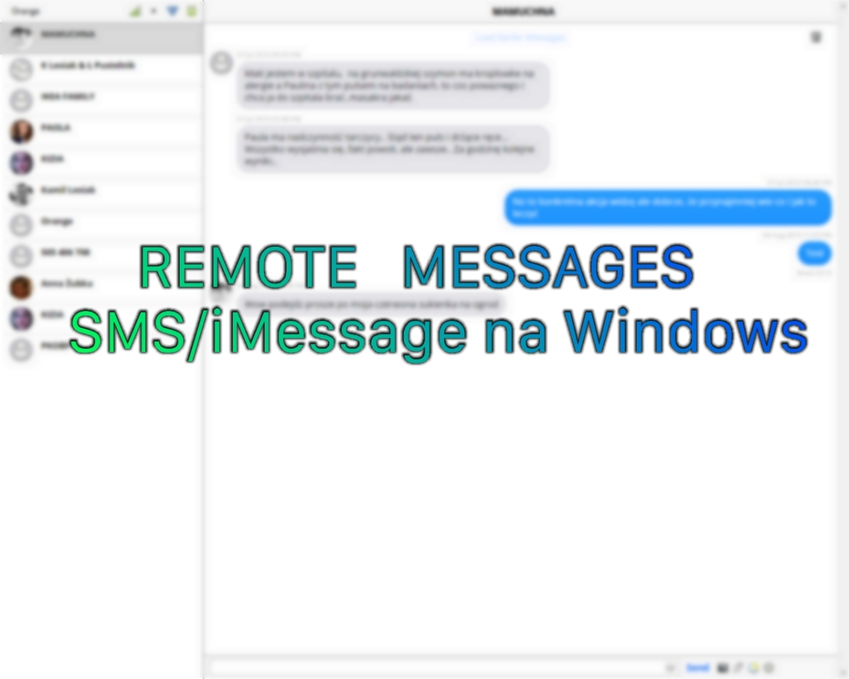 Remote Messages - SMS / iMessage na Windows (for Windows)