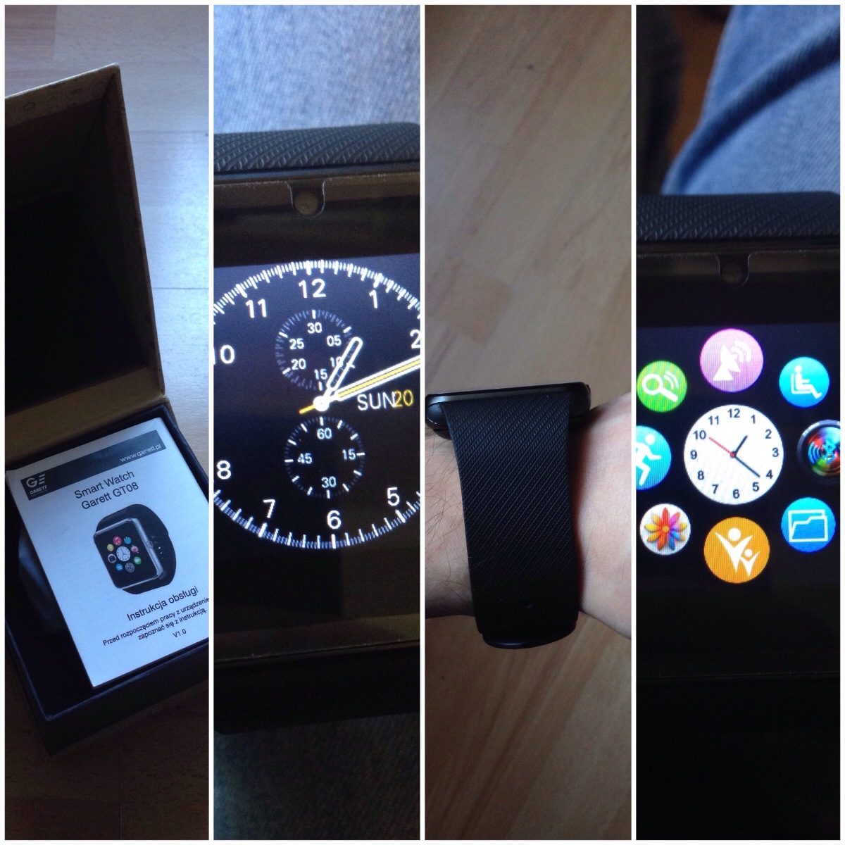 iTest - SmartWatch Garett G25 inspirowany wyglądem Apple Watch (inspired by design of Apple Watch)