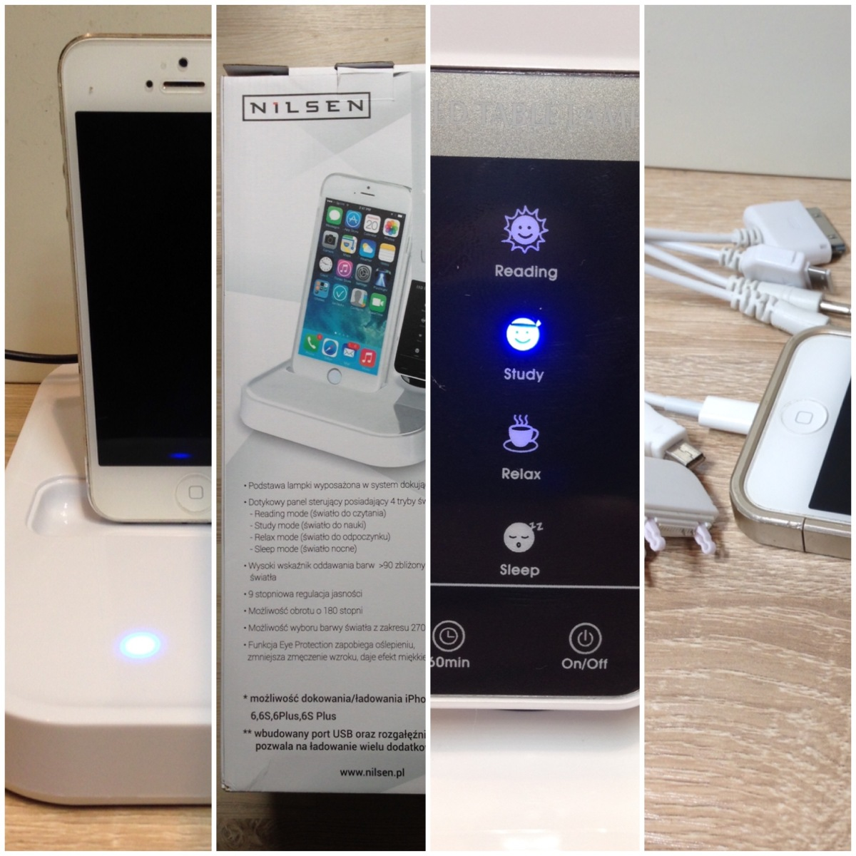 iTest: Lampka biurkowa iStar Nilsen + stacja dokująca do iPhone'a